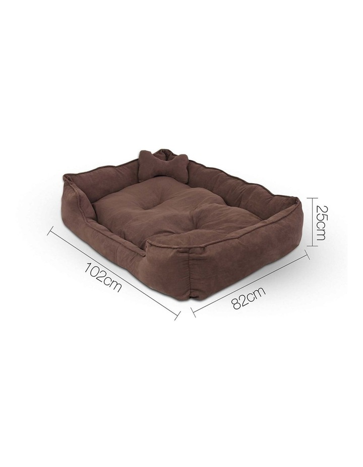 Extra Large Faux Suede Washable Pet Bed image 2