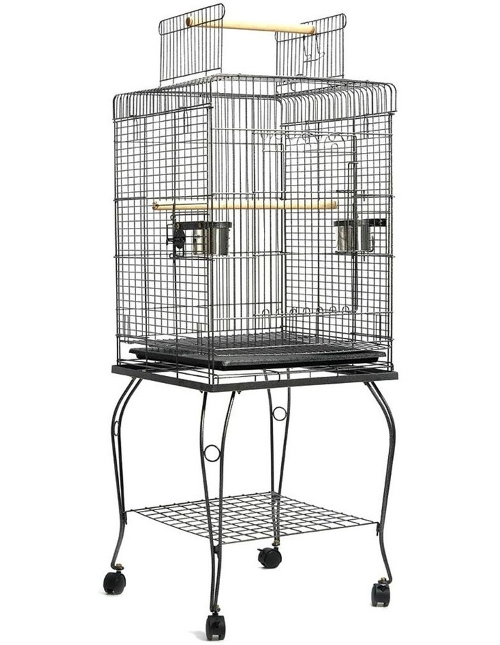 Large Bird Cage with Perch - Black image 1
