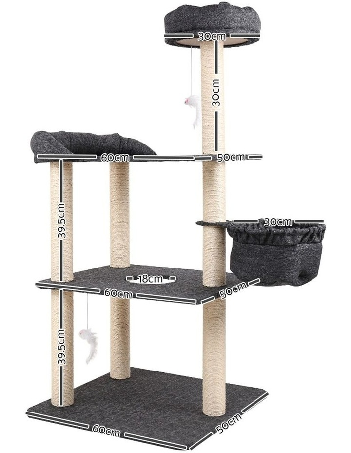 132cm Multi Level Cat Scratching Tree Post image 2