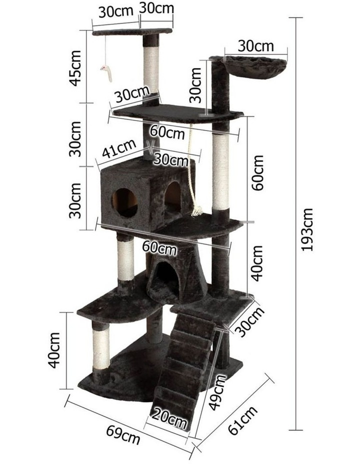 193cm Multi Level Cat Scratching Post image 2