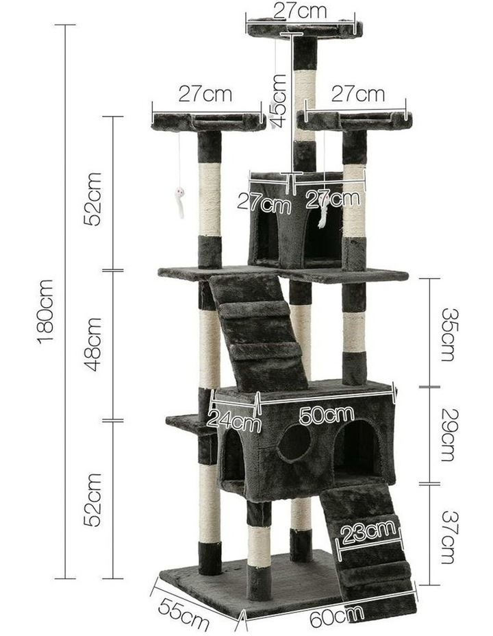 180cm Multi Level Cat Scratching Post image 2