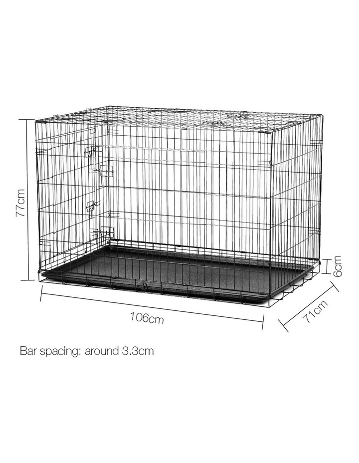 42inch Collapsible Pet Cage with Cover image 2
