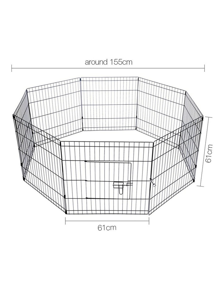 "24"" 8 Panel Pet Dog Playpen image 2"