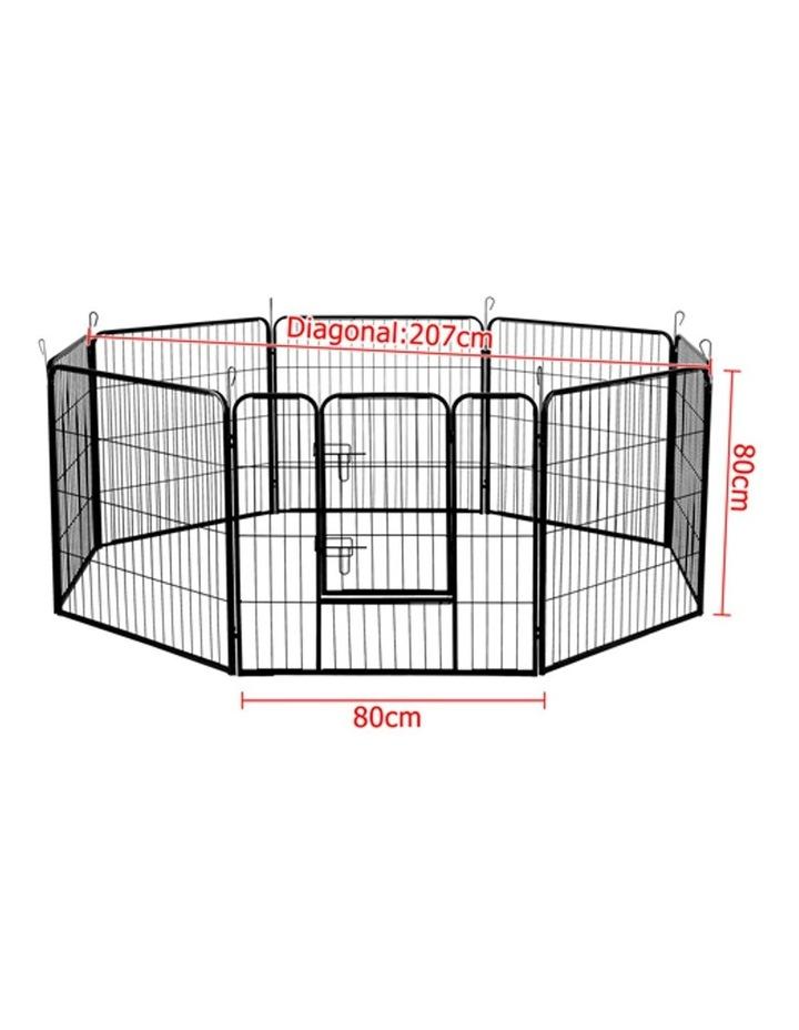80x80cm 8 Panel Pet Dog Playpen image 3