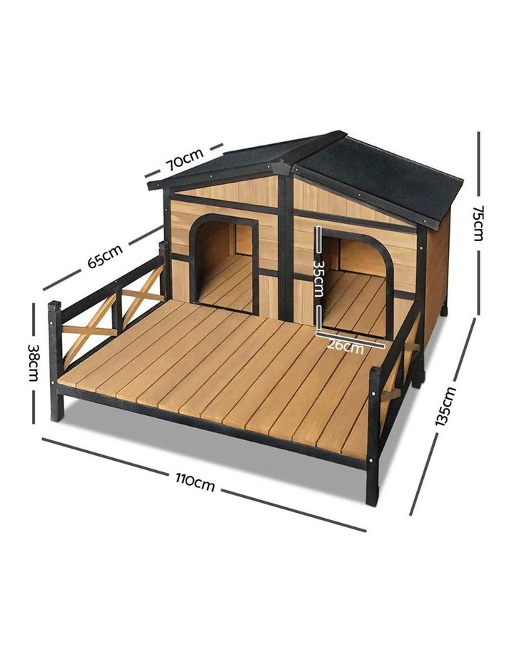 i.Pet Extra Extra Large Wooden Pet Kennel image 2