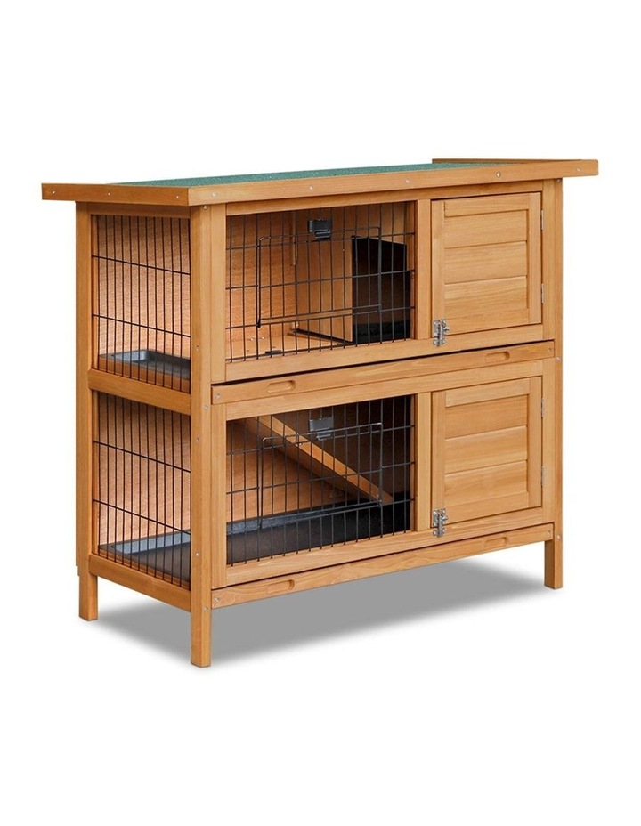 2 Storey Wooden Rabbit Hutch image 1