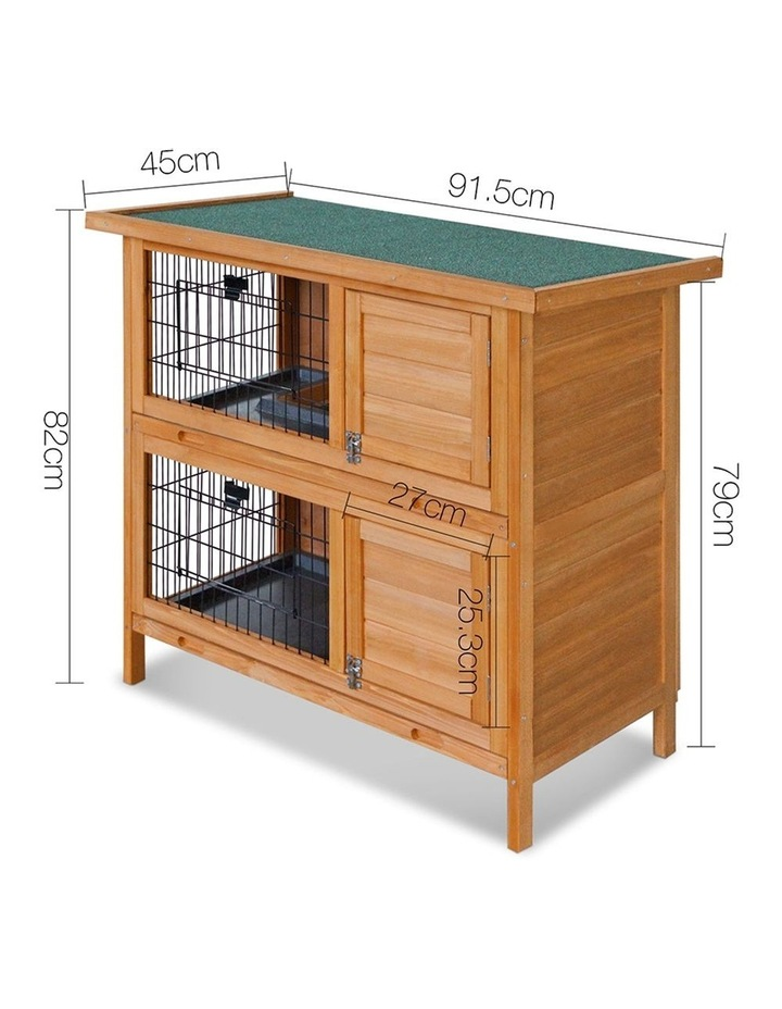 2 Storey Wooden Rabbit Hutch image 2