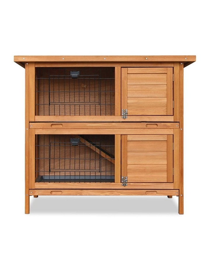 2 Storey Wooden Rabbit Hutch image 3