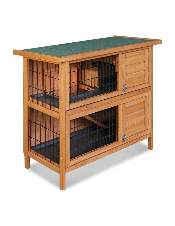 2 Storey Wooden Rabbit Hutch image 4