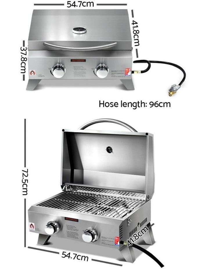 Portable 2 Burner Gas BBQ image 2