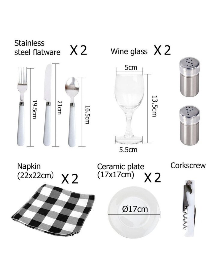 Deluxe 2 Person Picnic Basket image 3