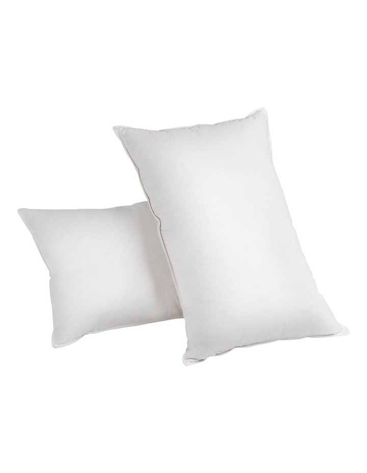 Set of 2 Goose Feather and Down Pillow image 1