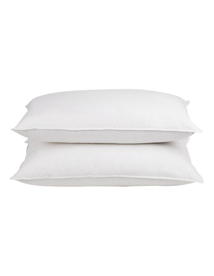 Set of 2 Goose Feather and Down Pillow image 3