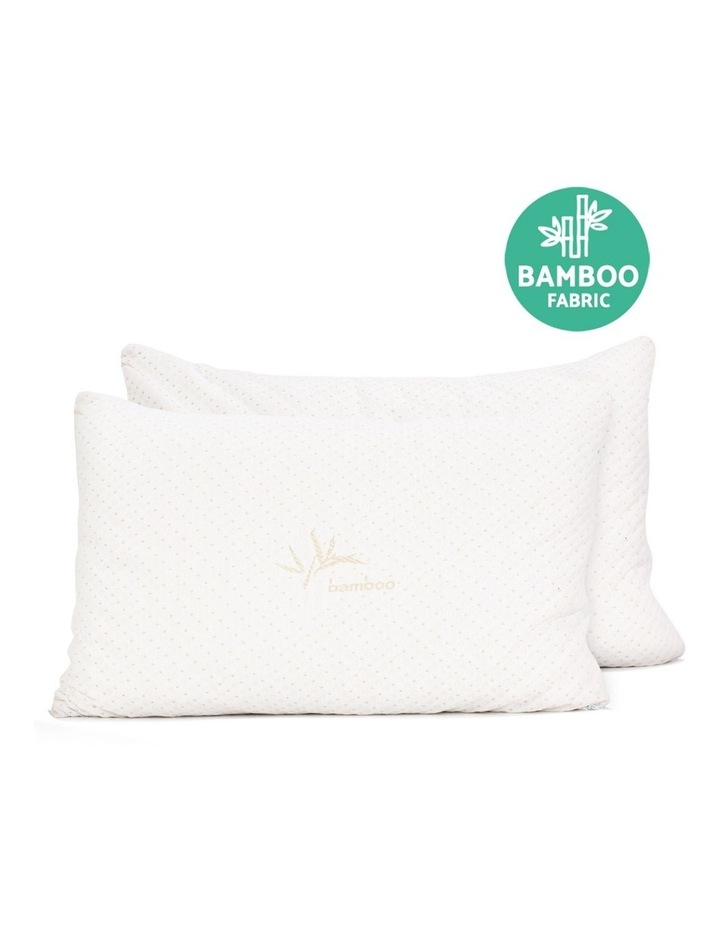 Set of 2 Single Bamboo Memory Foam Pillow image 5