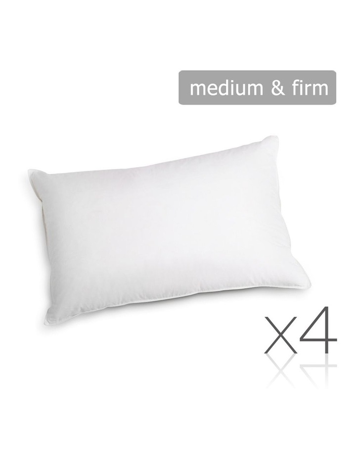 Set of 4 Medium & Firm Cotton Pillows image 1