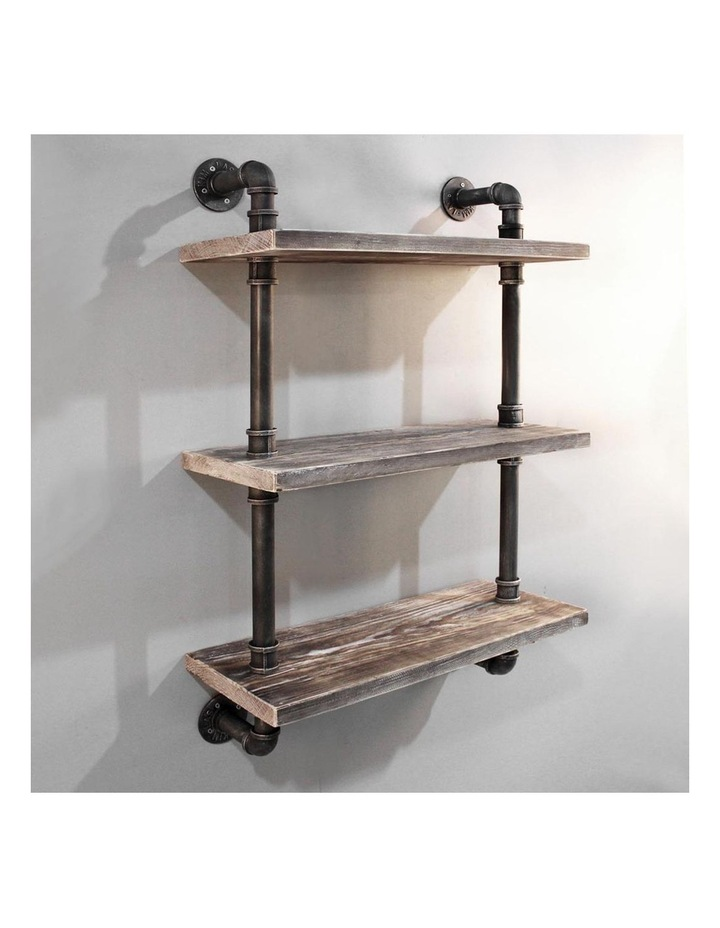 3 Level Rustic Industrial DIY Pipe Shelf image 1