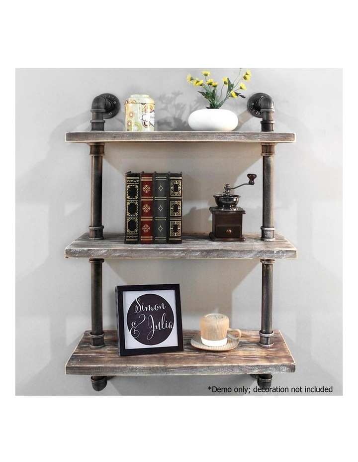 3 Level Rustic Industrial DIY Pipe Shelf image 4