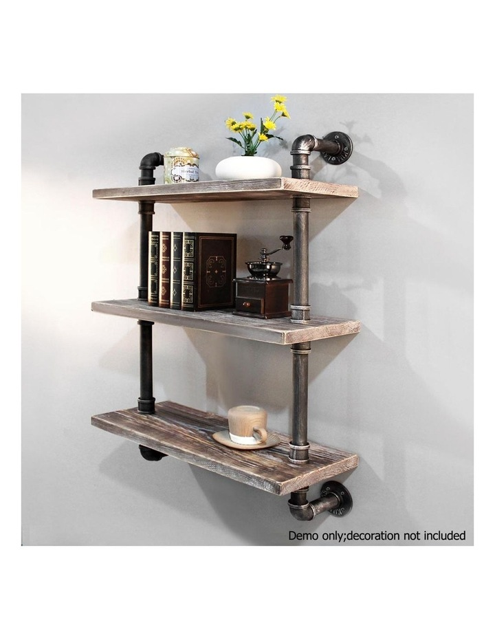 3 Level Rustic Industrial DIY Pipe Shelf image 5