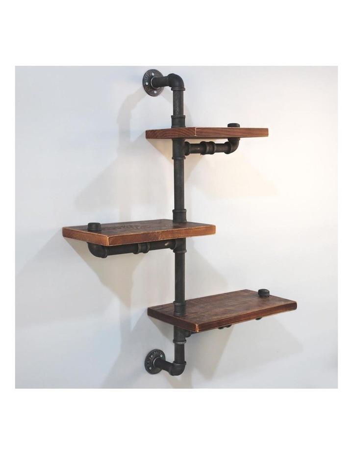 3 Level 84cm DIY Adjustable Metal Bookshelf image 1