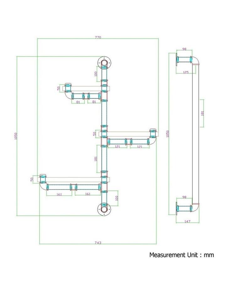 3 Level 84cm DIY Adjustable Metal Bookshelf image 2