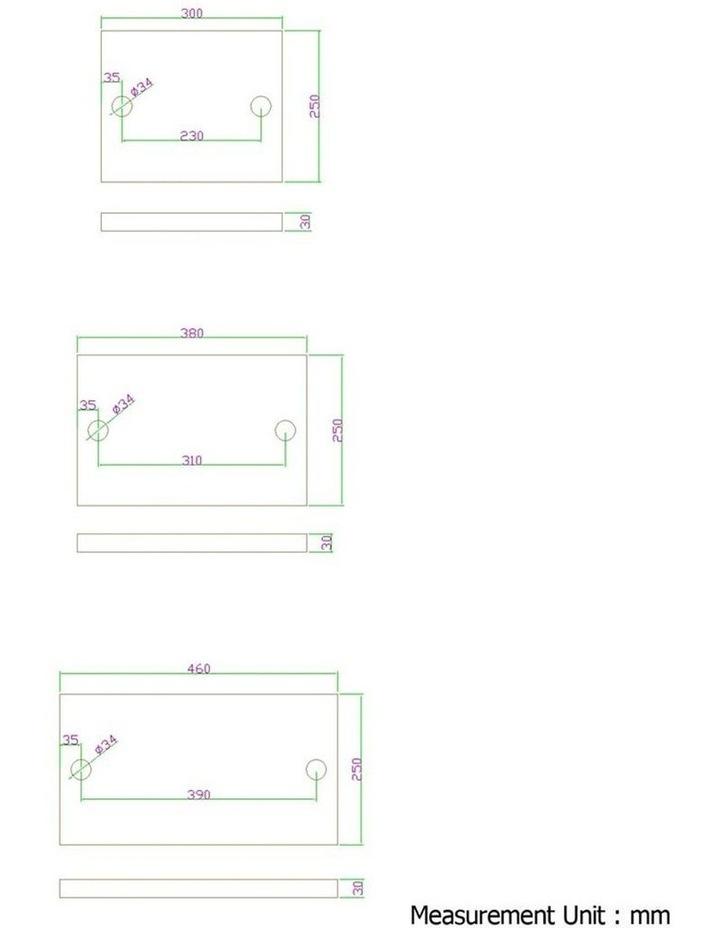 3 Level 84cm DIY Adjustable Metal Bookshelf image 3
