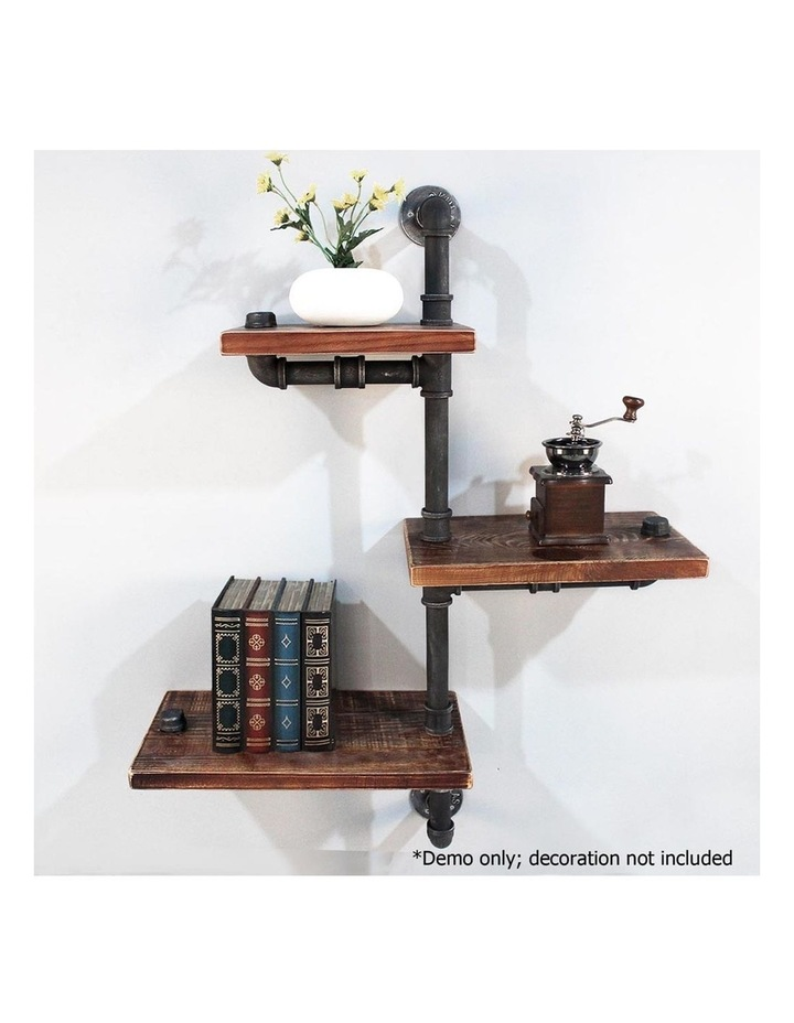 3 Level 84cm DIY Adjustable Metal Bookshelf image 4