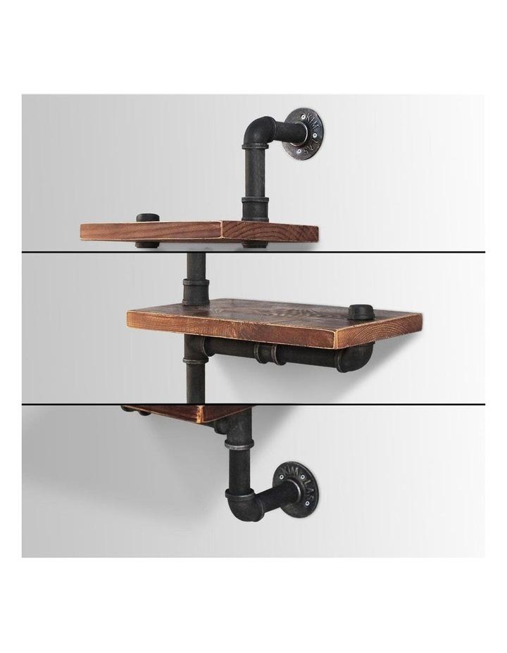 3 Level 84cm DIY Adjustable Metal Bookshelf image 5