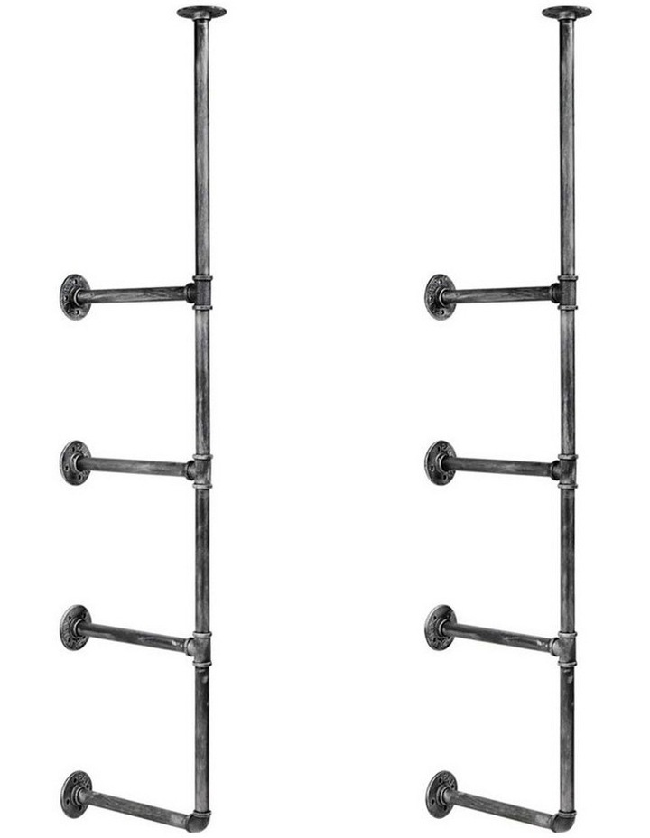 DIY Metal Ceiling Pipe Shelf image 1