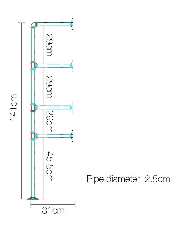 DIY Metal Ceiling Pipe Shelf image 2