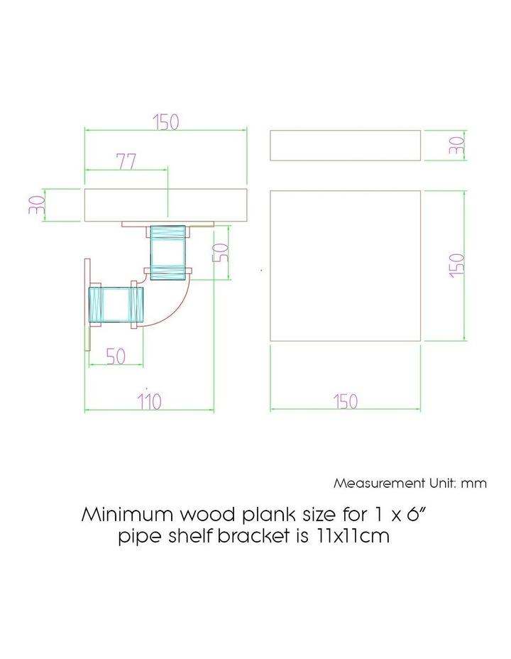 6inch 9 Piece Wall Mounted Shelf Set image 2
