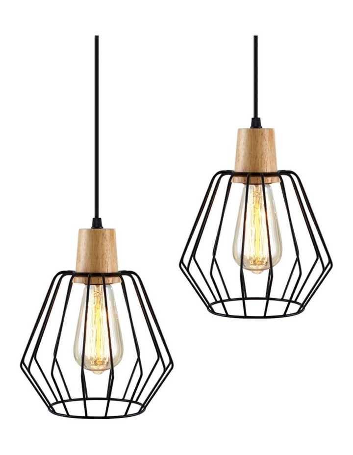2x Wood Pendant Light image 1