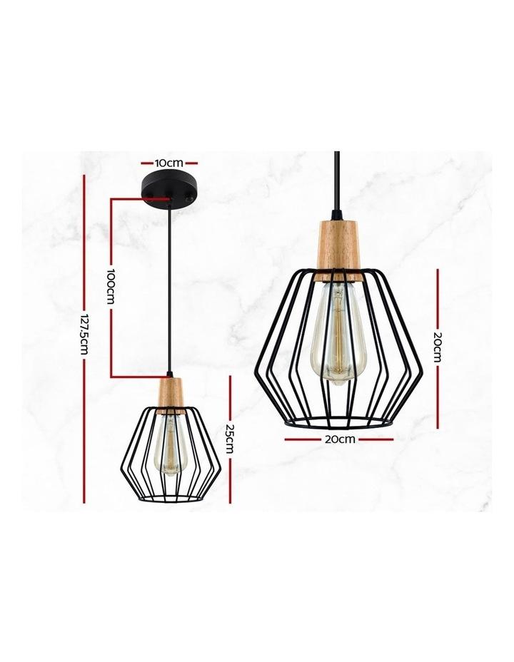 2x Wood Pendant Light image 2