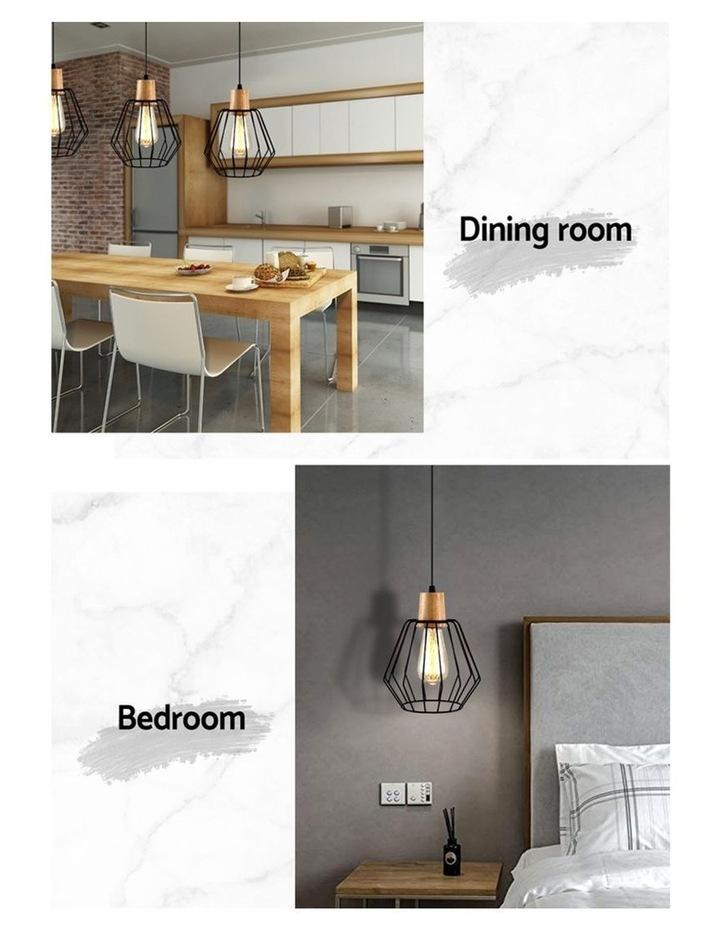 2x Wood Pendant Light image 4