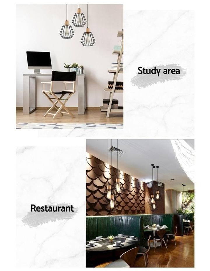 2x Wood Pendant Light image 5