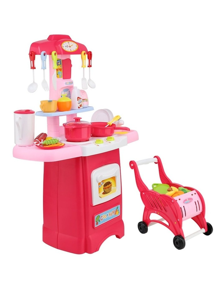 Kids Kitchen and Trolley Playset image 1