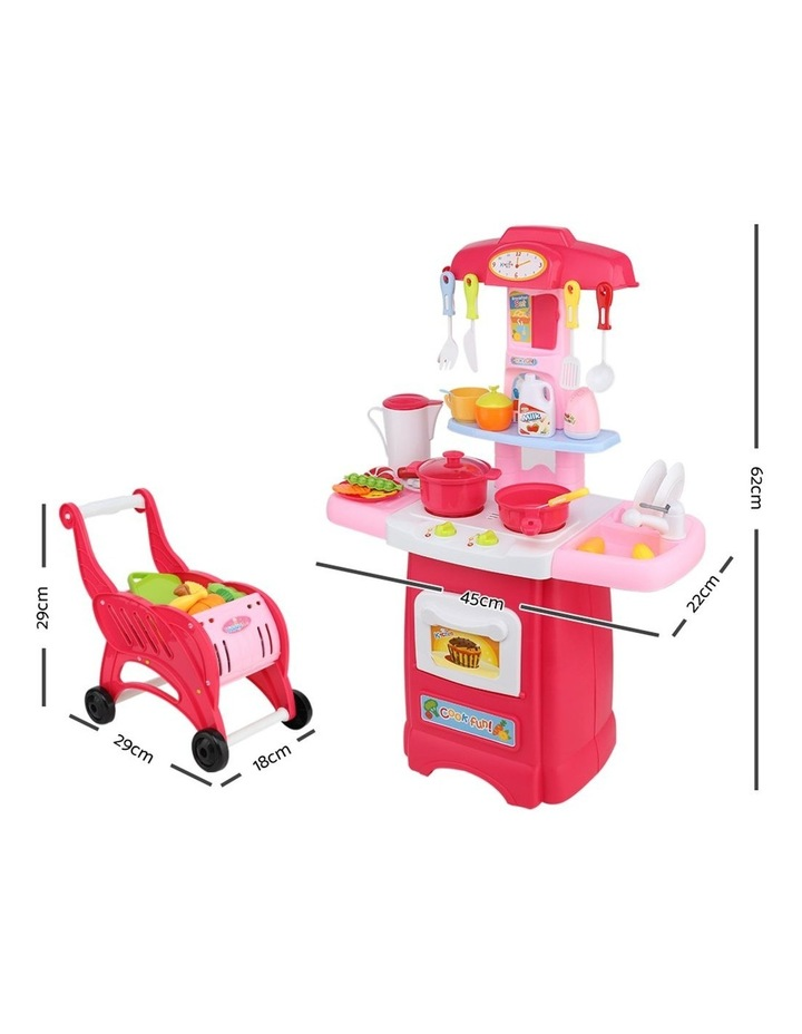 Kids Kitchen and Trolley Playset image 2
