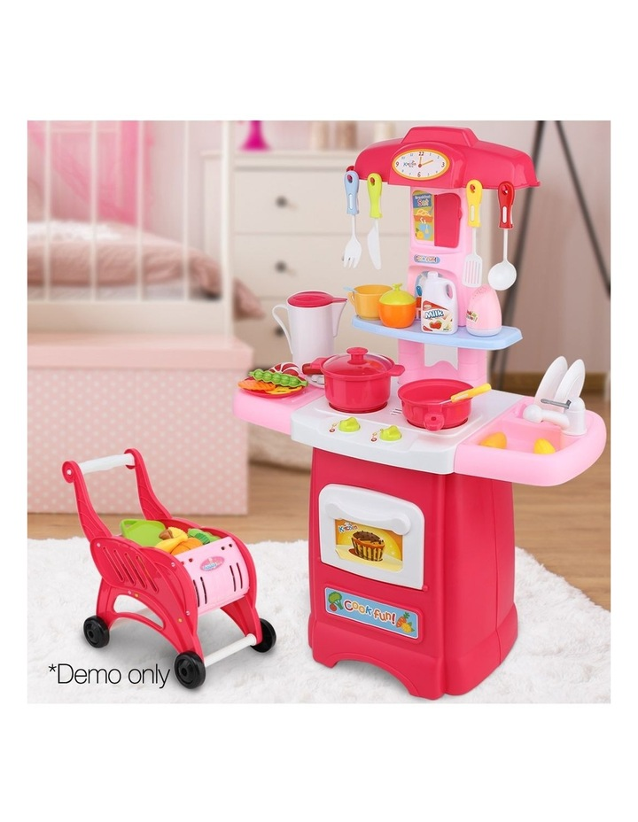 Kids Kitchen and Trolley Playset image 3