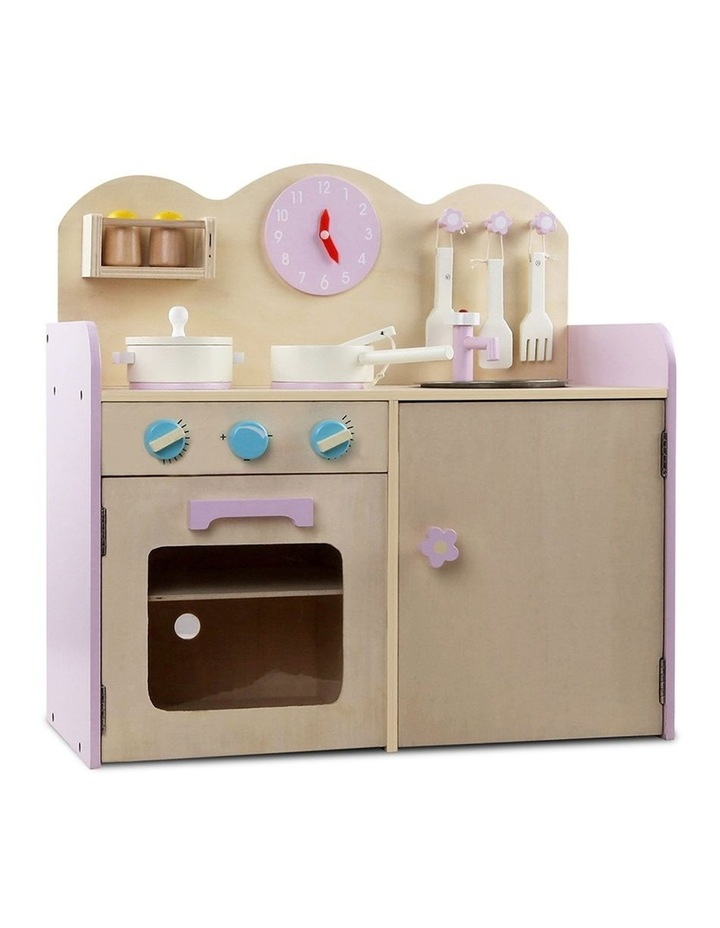 Kids Wooden Kitchen Play Set image 1