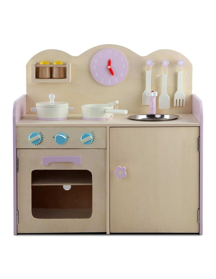 Kids Wooden Kitchen Play Set image 3
