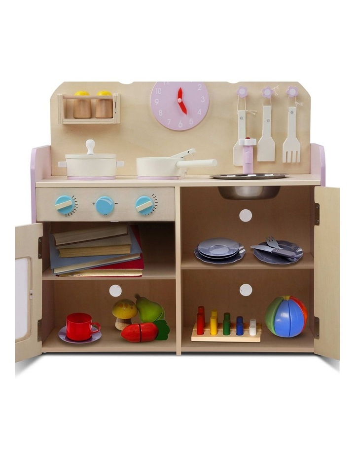 Kids Wooden Kitchen Play Set image 5