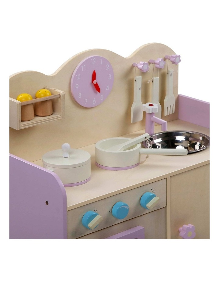 Kids Wooden Kitchen Play Set image 6