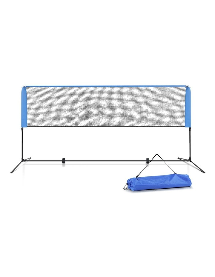 Portable Sports Net Stand Badminton Volleyball Tennis Soccer 3M 3FT Blue image 1