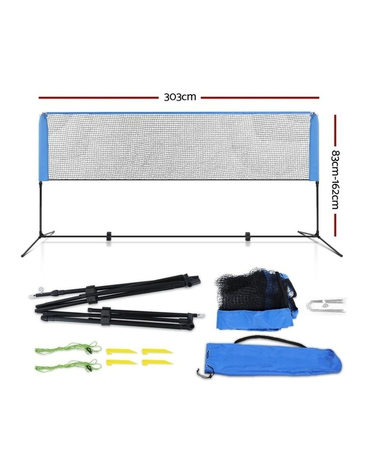 Portable Sports Net Stand Badminton Volleyball Tennis Soccer 3M 3FT Blue image 2