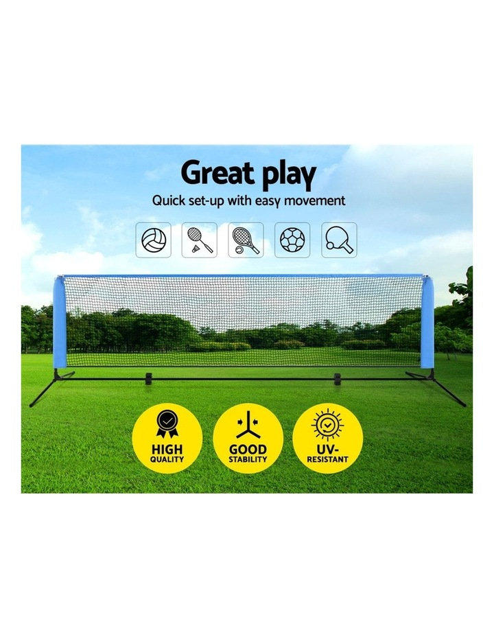 Portable Sports Net Stand Badminton Volleyball Tennis Soccer 3M 3FT Blue image 3