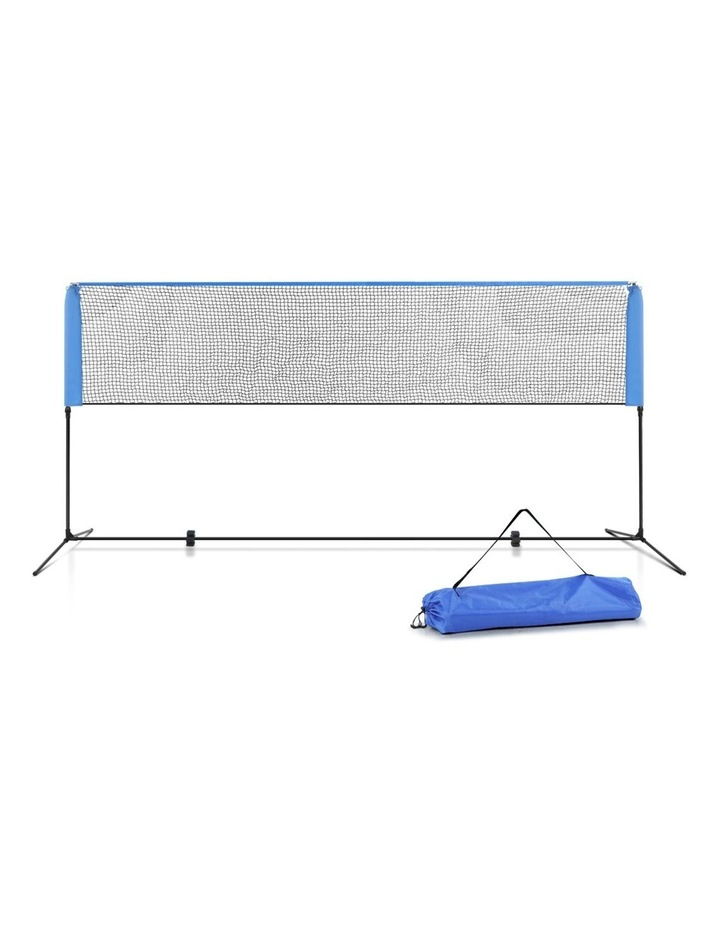 Portable Sports Net Stand Badminton Volleyball Tennis Soccer 4M 4FT Blue image 1