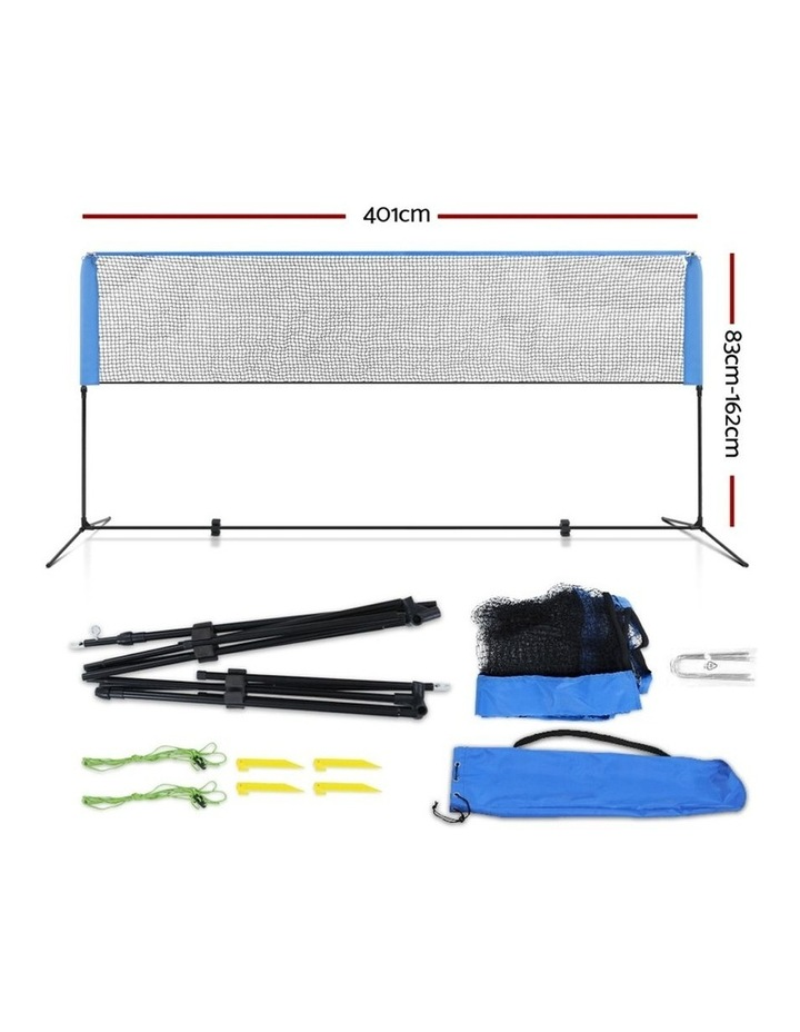 Portable Sports Net Stand Badminton Volleyball Tennis Soccer 4M 4FT Blue image 2