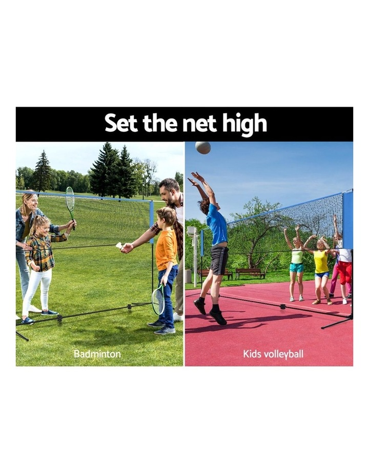 Portable Sports Net Stand Badminton Volleyball Tennis Soccer 4M 4FT Blue image 5