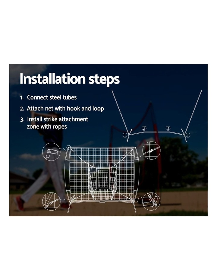 Portable Baseball Softball Practice Sports Tennis Training Net Stand image 6