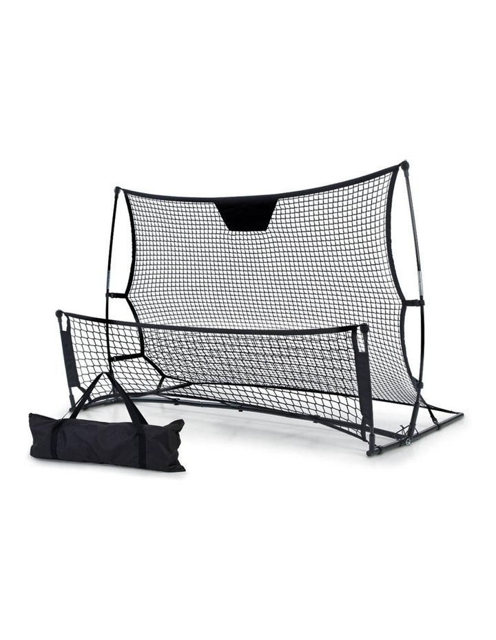 Portable Soccer Rebounder Net Volley Training Football Goal Pass Trainer image 1