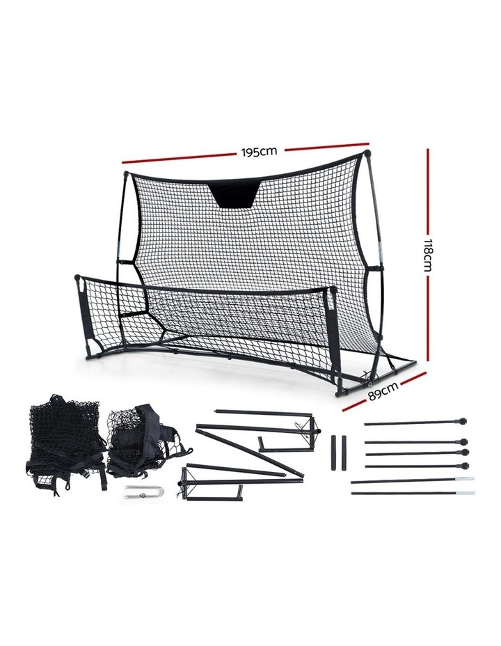 Portable Soccer Rebounder Net Volley Training Football Goal Pass Trainer image 2